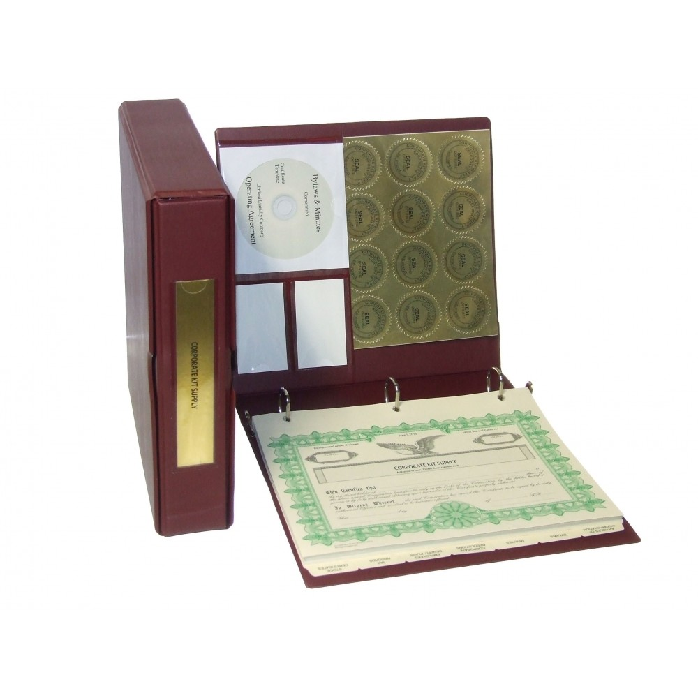 Corporate Kit with Laser Wafer Seal (VL Burgundy)