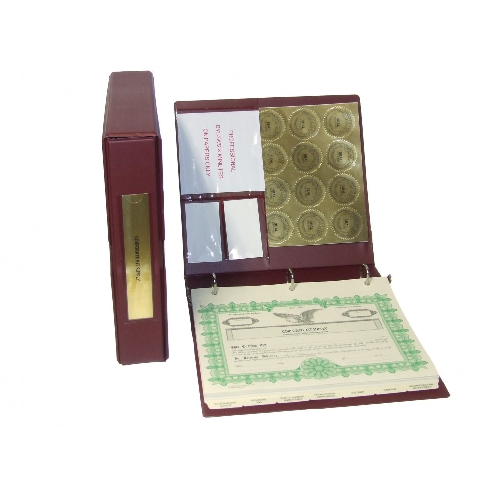 Professional Corporate Kit with Laser Wafer Seal (VL Burgundy)
