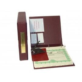 Professional Corporate Kit with Seal Embosser (VL Burgundy)