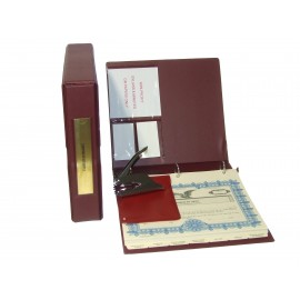 Non-profit Corporate Kit with Seal Embosser (VL Burgundy)