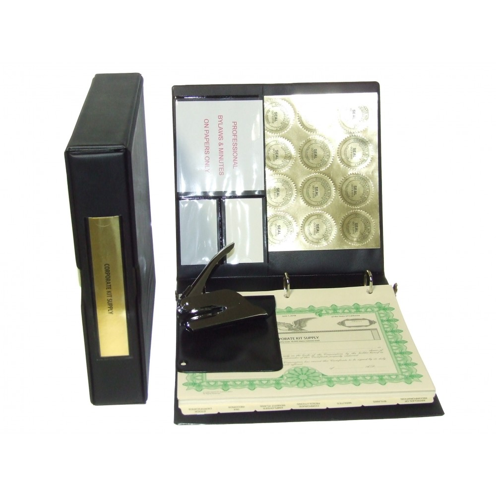Professional Corporate Kit with Seal Embosser and Laser Wafer Seal (VL Black)