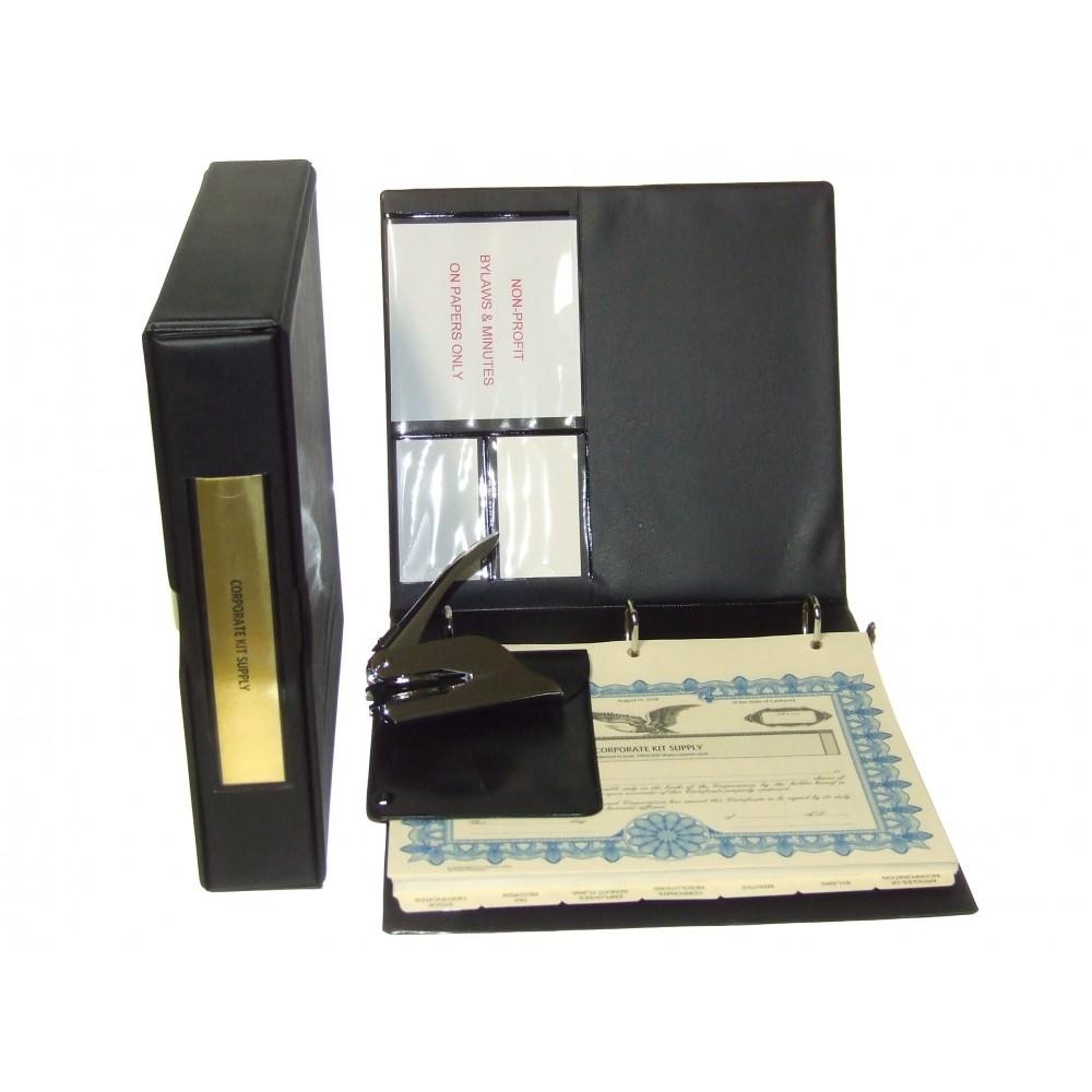 Non-profit Corporate Kit with Seal Embosser (VL Black)