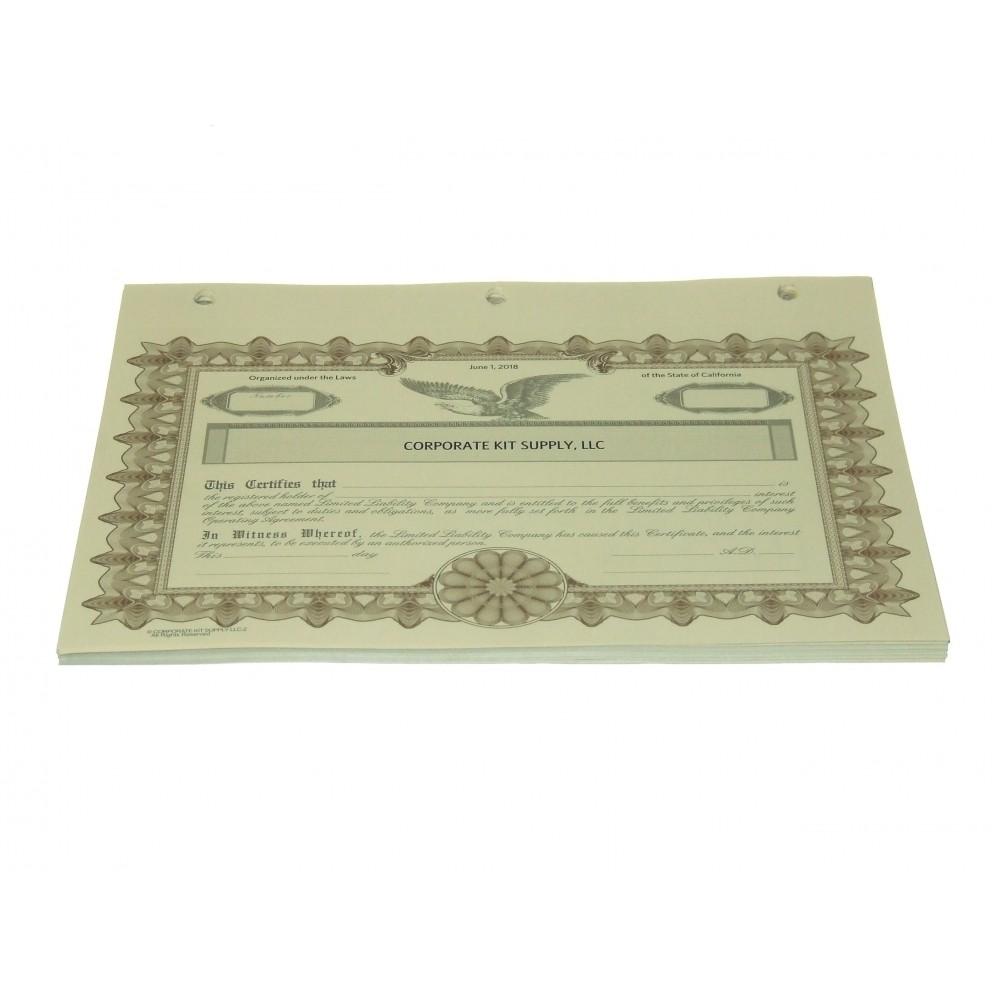 LLC Certificates - CKS Series